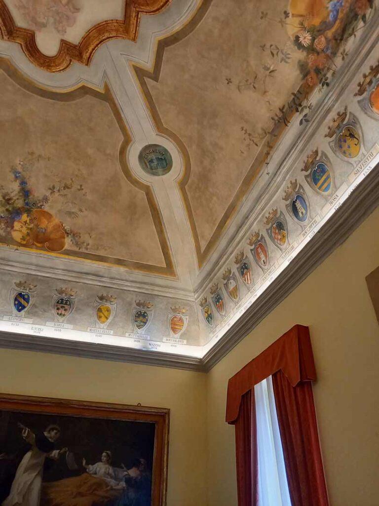 Sala degli Stemmi Palazzo Comunale di Cingoli